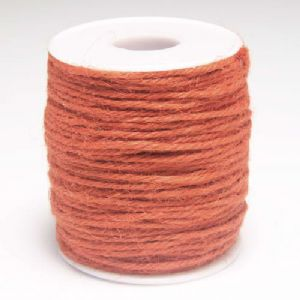 Unwaxed hemp cord, Hemp, Dark orange, 10m, Diameter 2mm, [LMS0027]